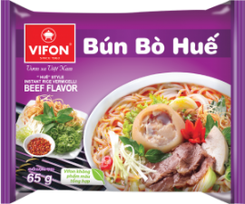 """VIFON """"Huế"""" Style Instant Rice Vermicelli Beef Flavor 65g"""