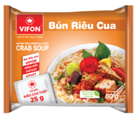 VIFON Oriental Style Instant Rice Vermicelli With Crab Soup 80g