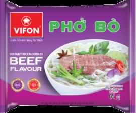 """Instant Rice Noodles """"Pho""""  Beef Flavor 65gr"""