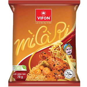Instant Noodles With Curry Flavor 70g