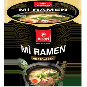 Mì Ly Topping Ramen Miso Rong Biển 67g