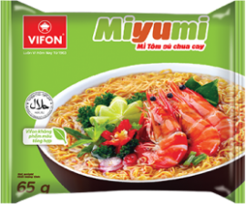 Miyumi Noodles Hot Sour Prawn Flavor 65g