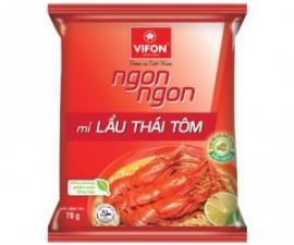 Mì Gói Ngon Ngon Lẩu Thái Tôm 70g