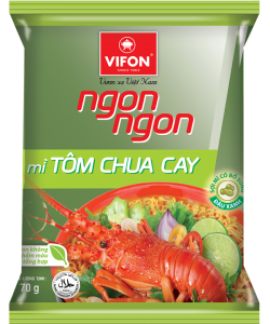 Ngon Ngon Instant Noodles Hot Sour Shirmp Flavor 70g