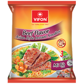 Beef Flavor Asian Style Instant Noodles 70g