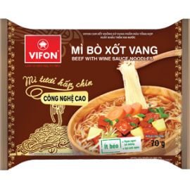 Instant Noodles Beef With Wine Sauce Flavor