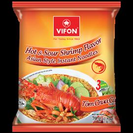 Hot & Sour Shrimp Flavor Asian Style Instant Noodles 70g