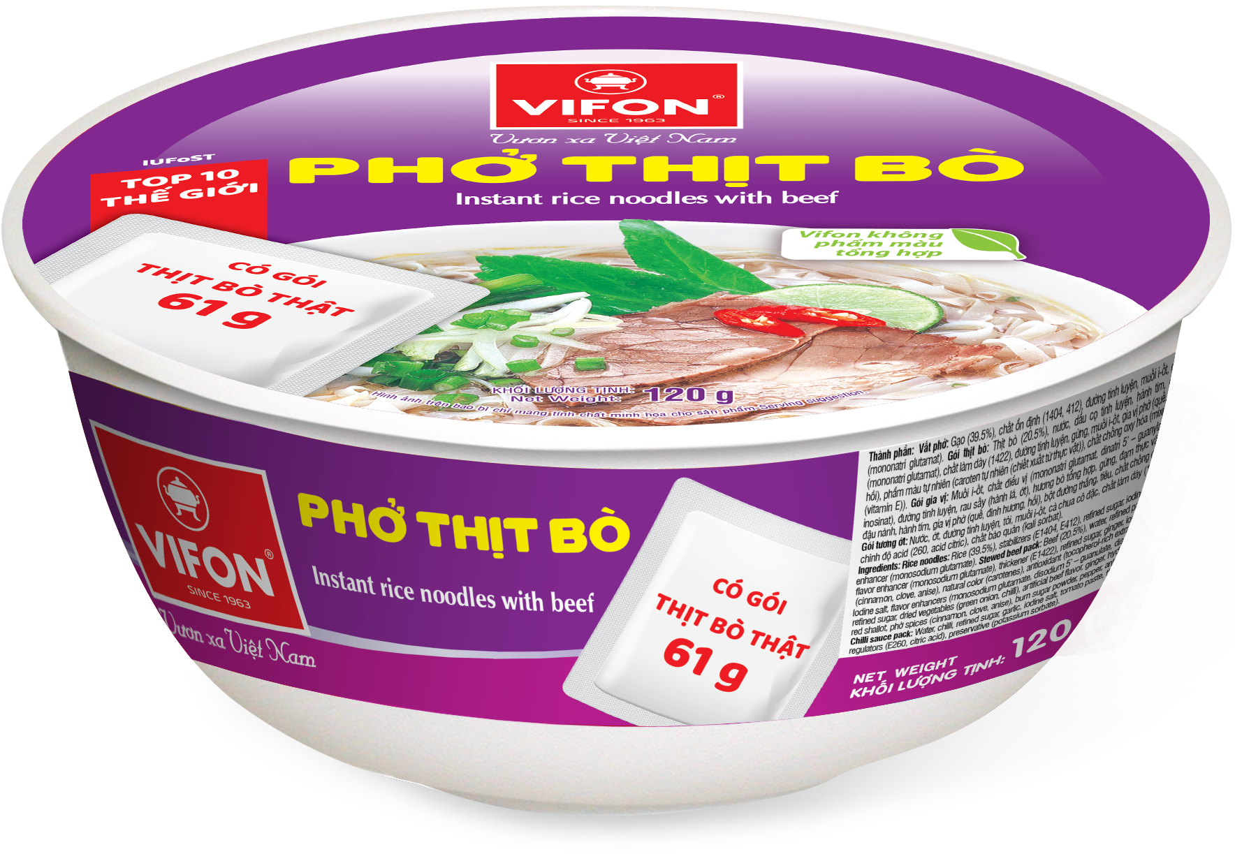 Instant Rice Noodle With Beef 120g