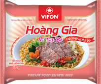 Hoang Gia Instant Nooldes With Beef 120g