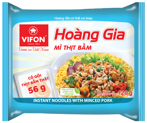 Hoang Gia Instant Noodles With Minced Pork 120g