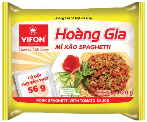 Hoàng Gia Mì Xào Spaghetti 120g