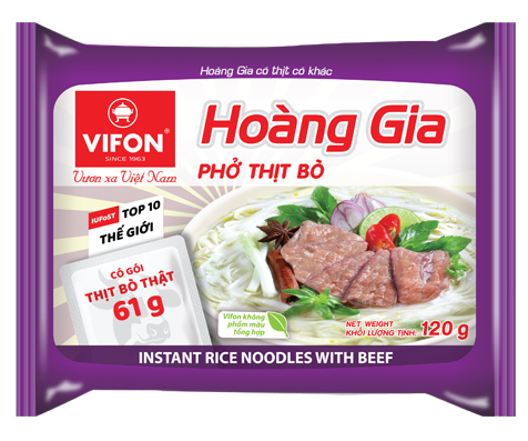 "Hoang Gia ""Pho"" With Beef 120g – WITH REAL MEAT"