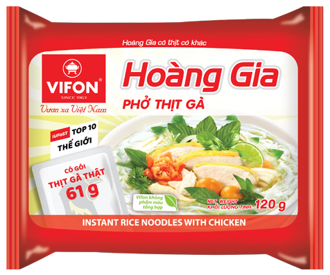 "Hoang Gia ""Pho"" With Chicken 120g – WITH REAL MEAT"