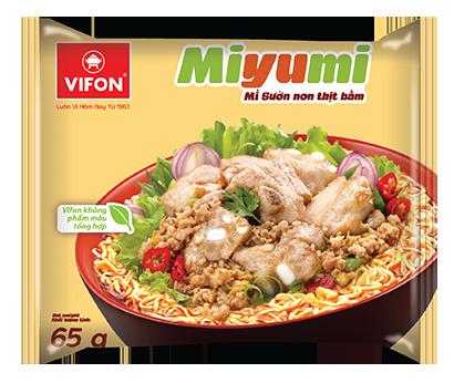 Miyumi Noodles Minced Pork Ribs Flavor 65g