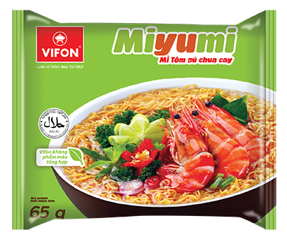 Miyumi Noodles Hot Sour Prawn Flavor 65g