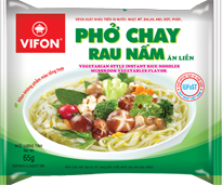 Vegetarian Style Instant Rice Noodles Mushroom Vegetable Flavor 65g