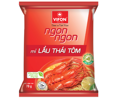 Ngon Ngon Instant Noodles Thai Style With Shrimp 70g