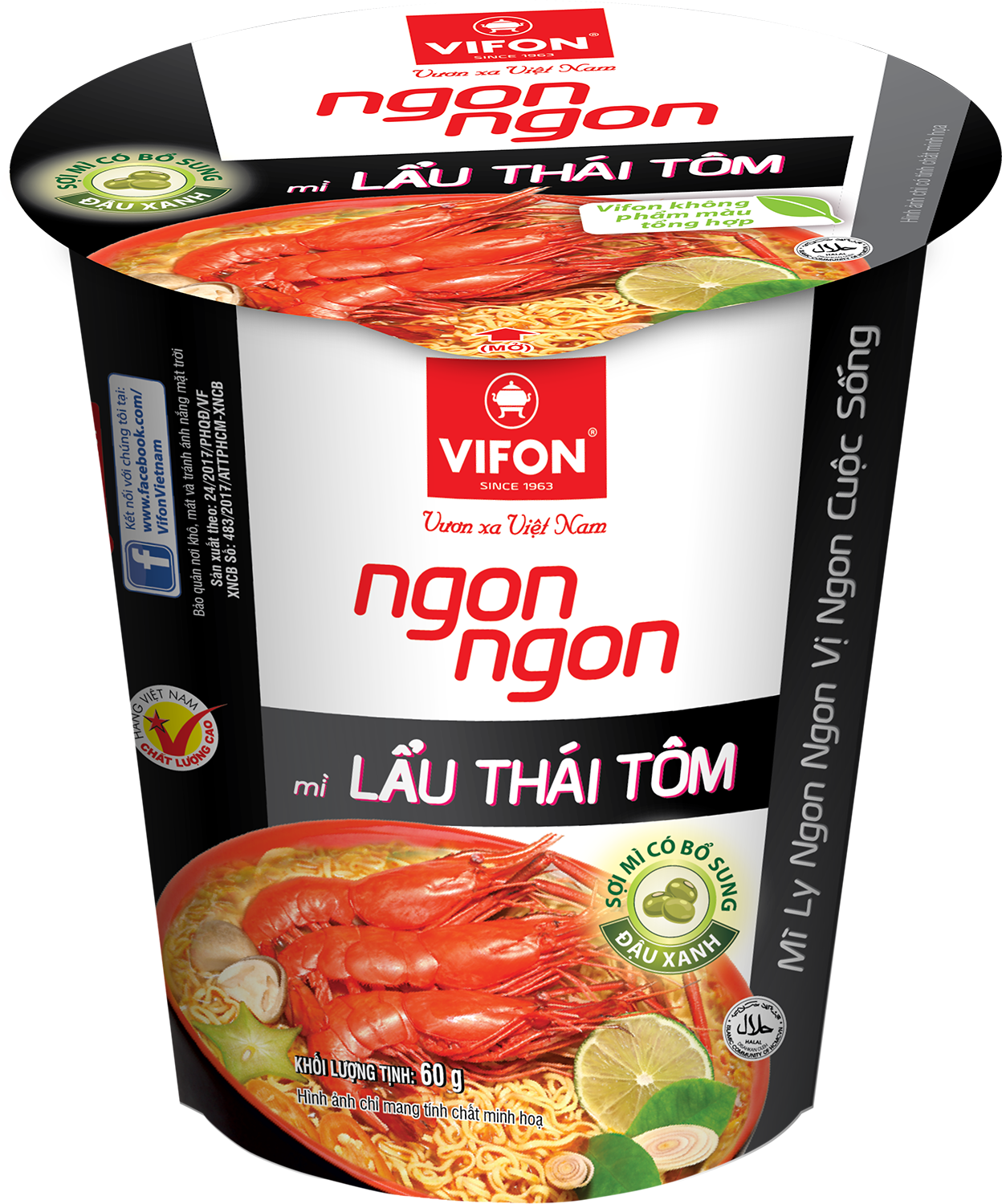 Ngon Ngon Instant Noodles Thai Style With Shrimp 60g