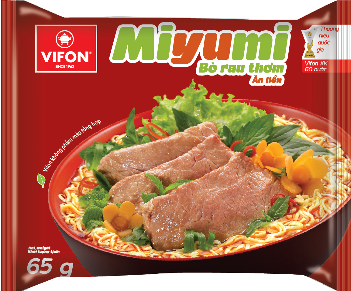 Miyumi Noodles With Beef And Herbs 65g