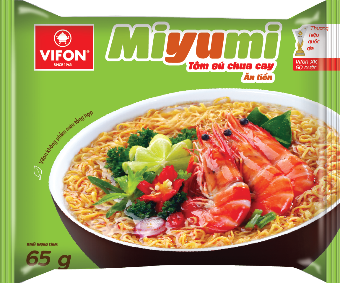 Miyumi Noodles with Hot Sour Prawn 65g
